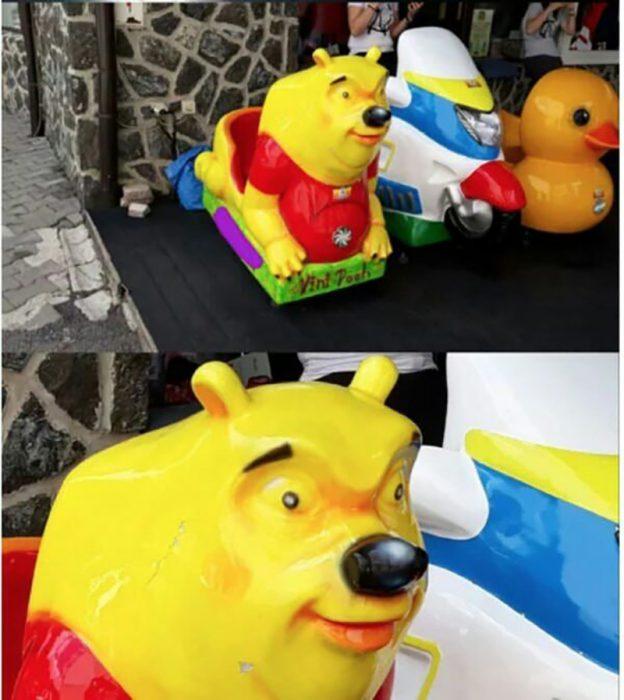 carrito mecánico de winnie pooh