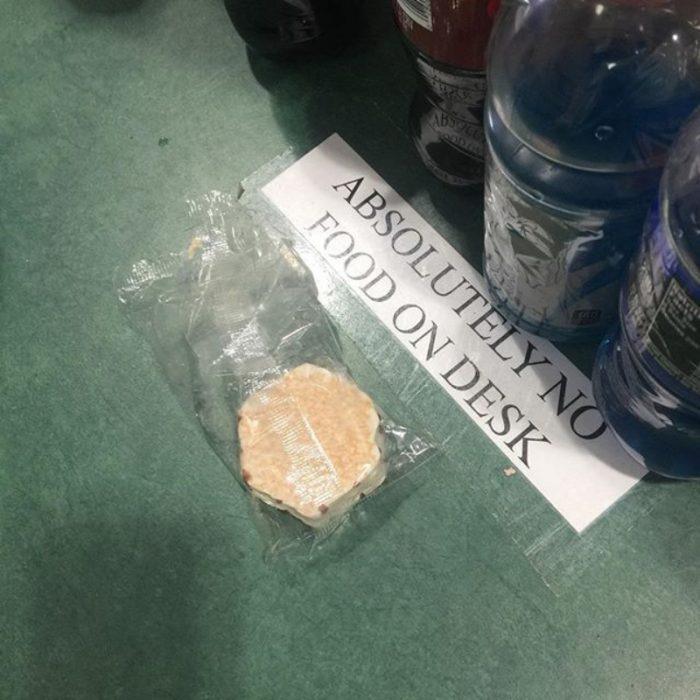 comida escritorio