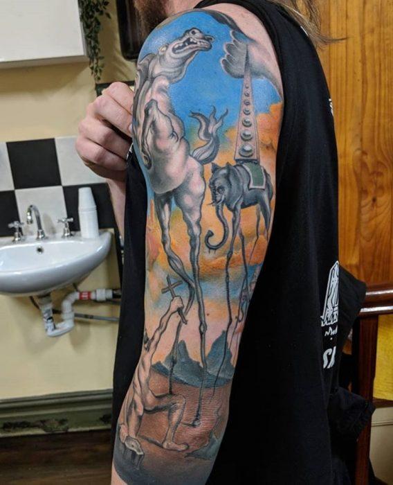 tatuaje de obra de arte