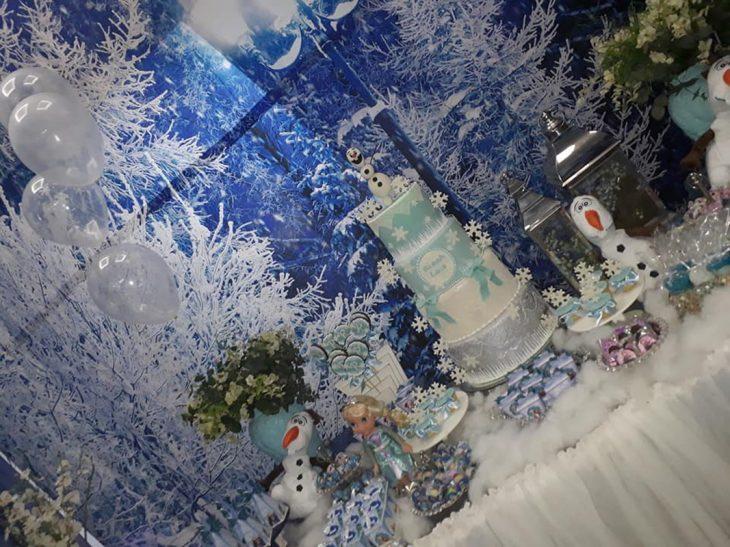 mesa de dulces de frozen