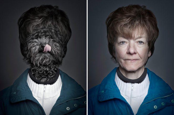 señora y su perro vestidos iguales