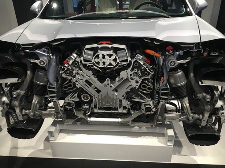 Tajo del motor de un Porshe