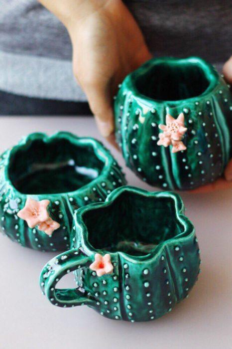 taza de cactus