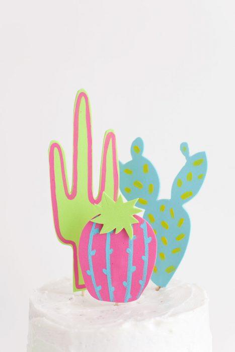 topping de pastel de cactus