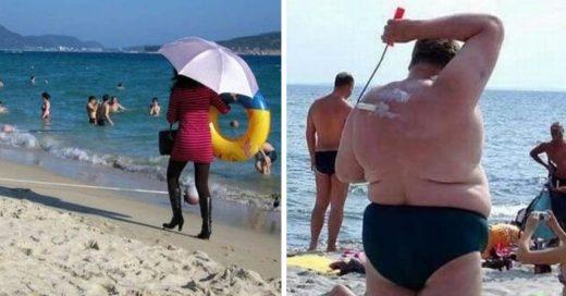 Cover Extraños vacacionistas que fueron a la playa