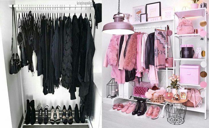 Closet negro vs. rosa