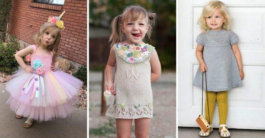 Cover vestiditos crochet para niña