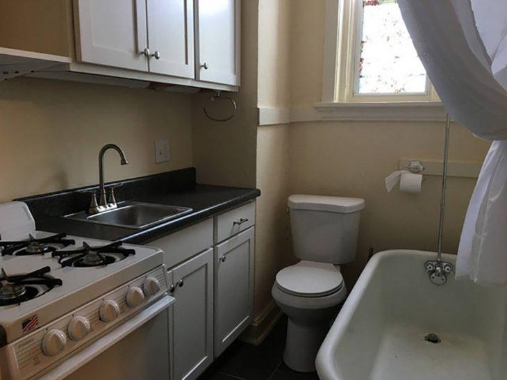 baño en cocina