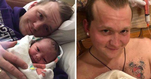 Cover Un padre se gana las críticas en redes tras subir una foto dándole el pecho a su hija