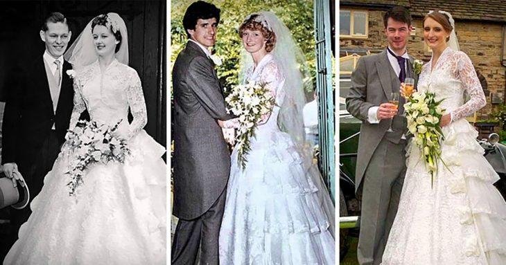 mismo vestido tres familias