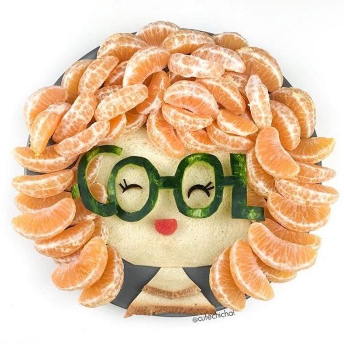 afro de mandarinas