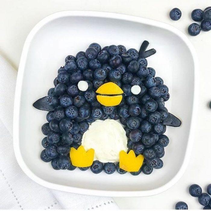 Pingüinos de arándanos azules
