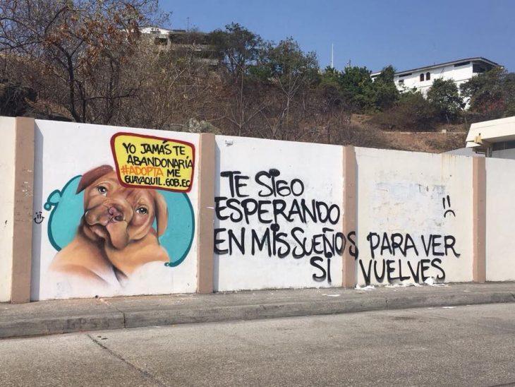 pperrito grafitti nunca te abandonaría