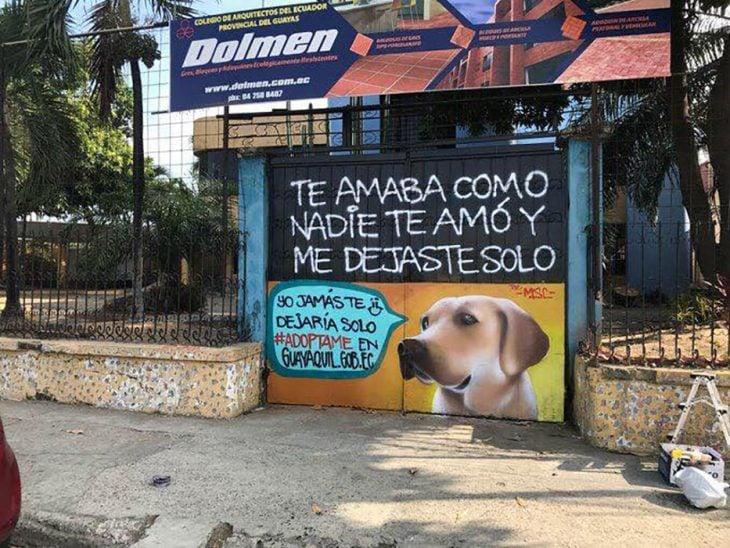 grafitti de perrito labrador