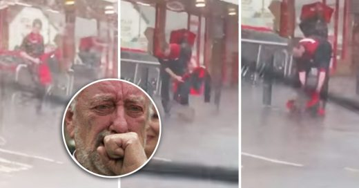 Cover Perrito espera a su dueño bajo la lluvia y un chico lo abriga