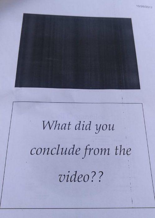 video impreso