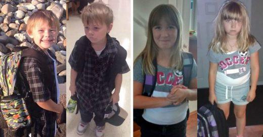 Cover Divertidas fotos de antes y después del primer día de escuela