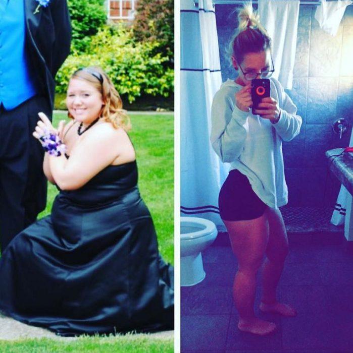 la rechazaron y perdió peso
