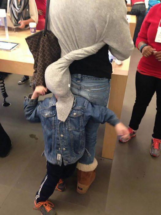 niños odian ir de compras