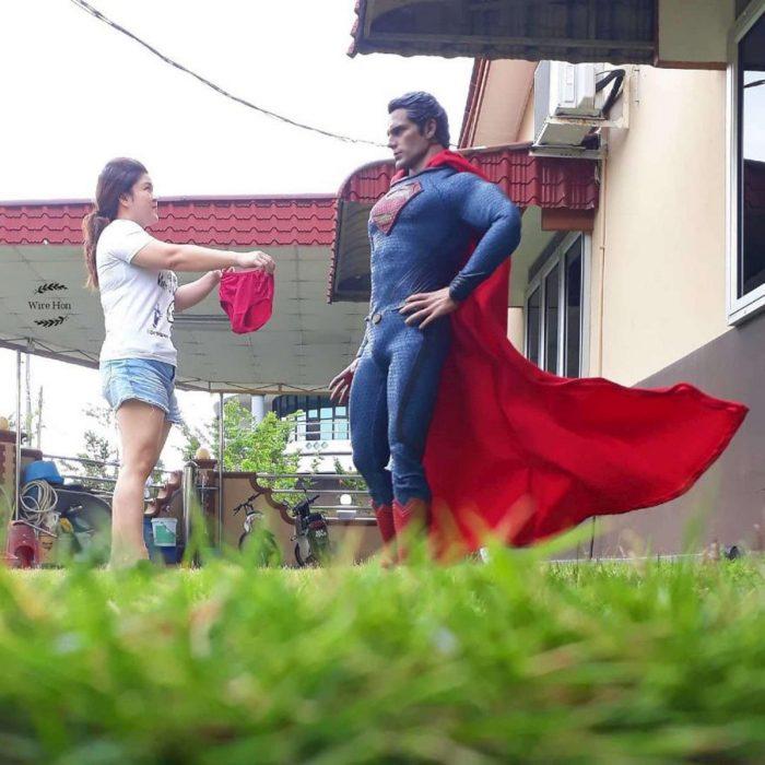 original sesión de fotos con héroes