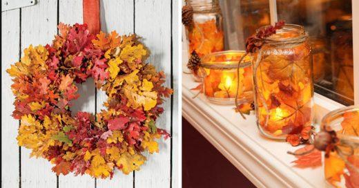 Cover Originales y sencillos adornos para el otoño hechos con hojas de árboles