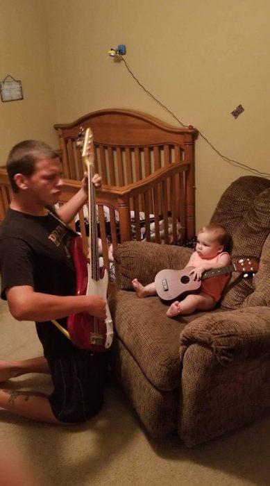 padre e hija banda