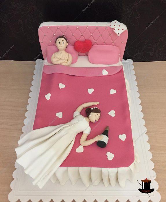 pastel recién casados