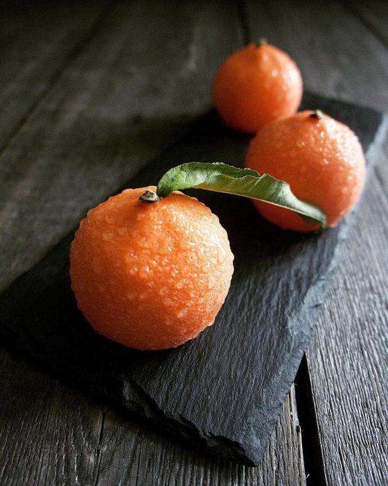 pastel de mandarias