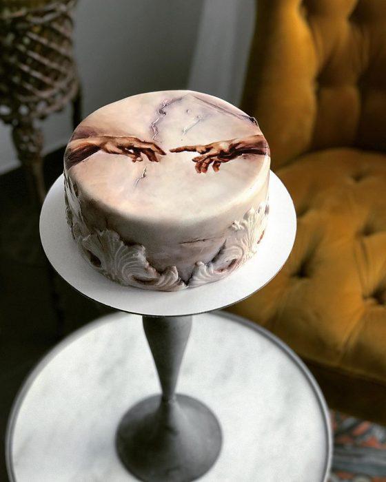 pastel de La creación de Adán