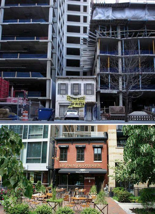 se negaron a vender sus casas