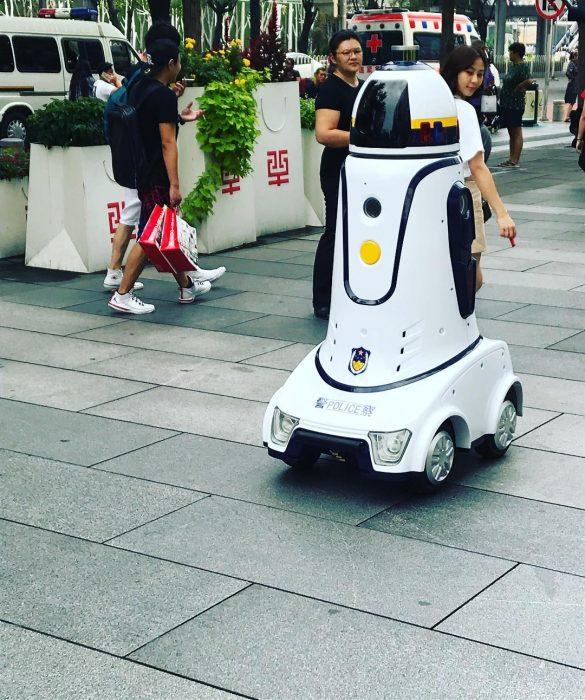 robots policía japón