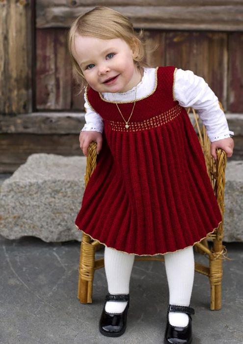 vestido tejido rojo