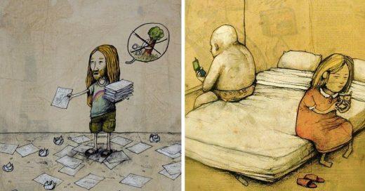Cover Ilustrador critica la hipocresía en la sociedad