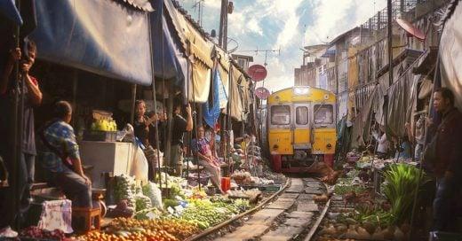 Cover El mercado de tren en Tailandia