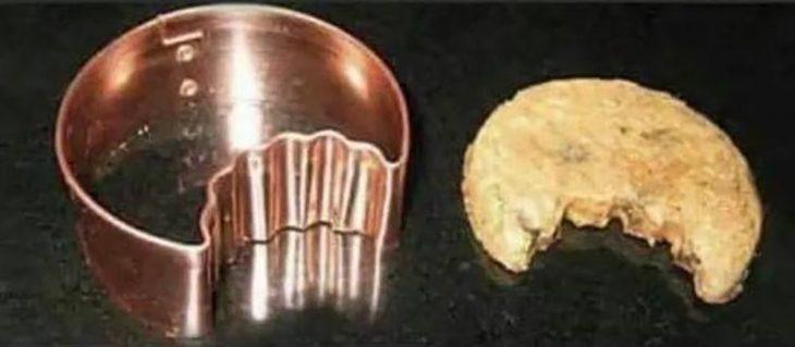 molde de galletas mordidas