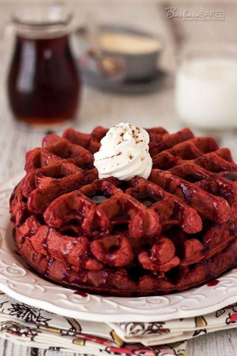 Waffles red velvet