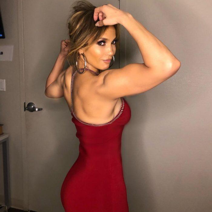 jlo vestido rojo