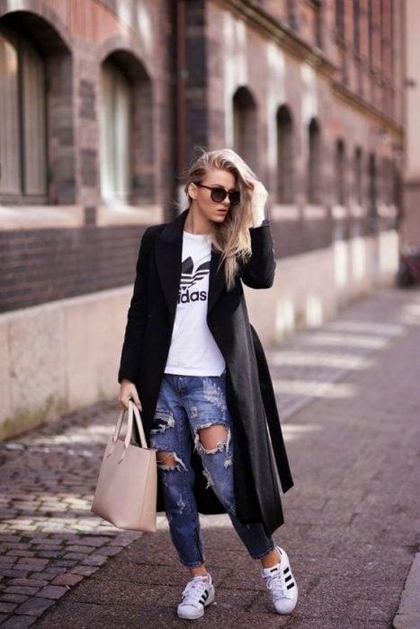 abrigo boyfriend jeans