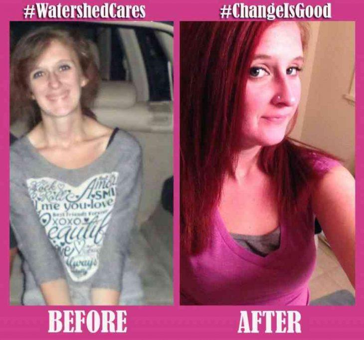 antes y después de las drogas