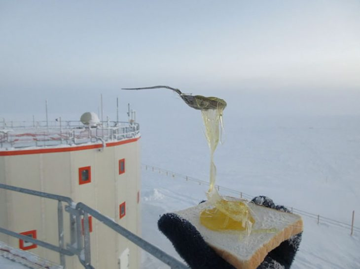 pan frío y miel congelada