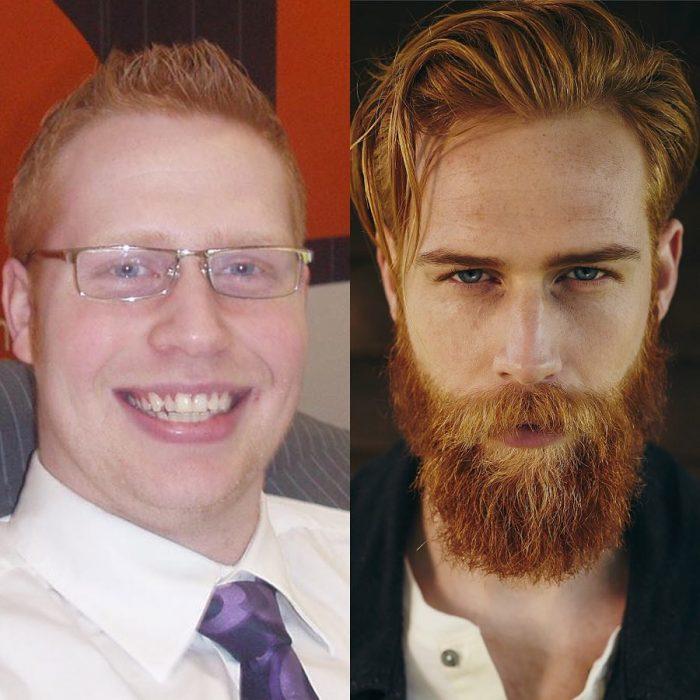 pelirrojo barba