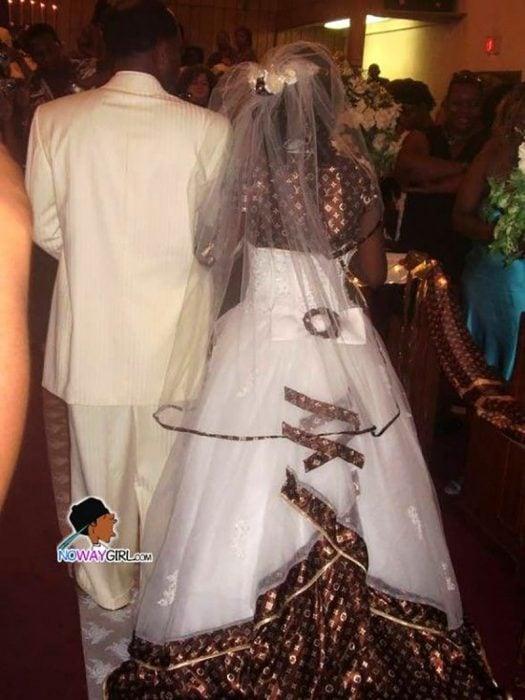 vestido de copia de Louis Vuiton