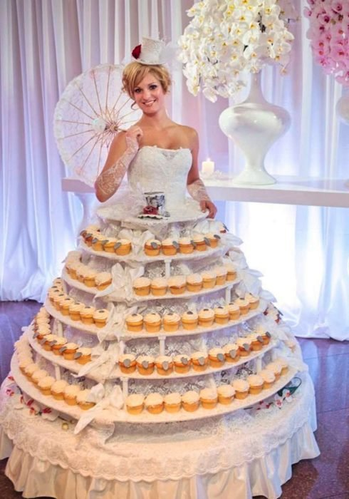 vestido de novia de cupcakes