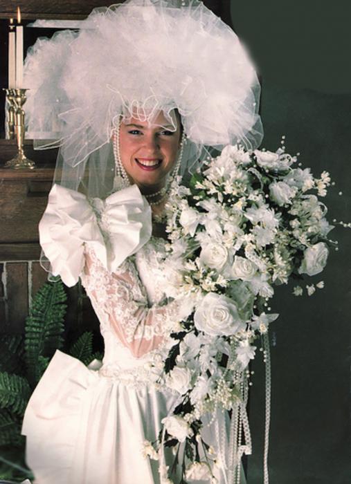 velo de novia feo