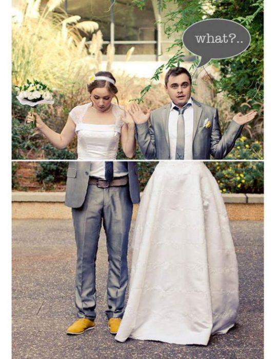 foto de bodas, Cambiando de extremidades