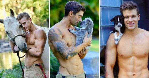 Cover Fotos de bomberos con animales, tan calientes que podrían iniciar un incendio