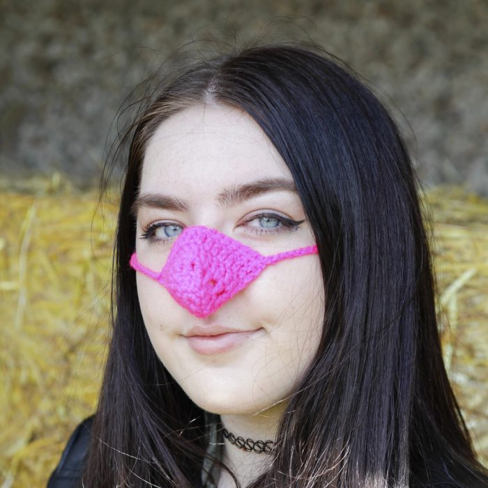 calentador de nariz rosa