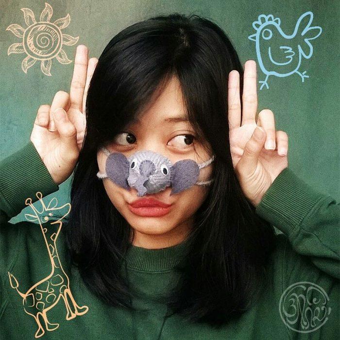 calentador de nariz de elefante
