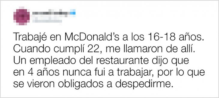 despido de macdonalds