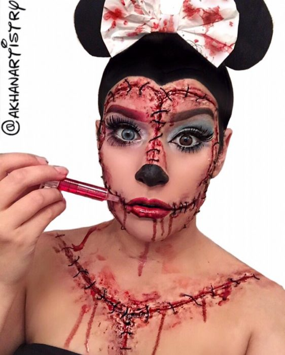 Minnie Mouse maquillaje